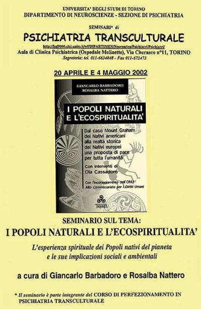Università di Torino - Giancarlo Barbadoro Seminario ''I Popoli Naturali e L'Ecospiritualità''