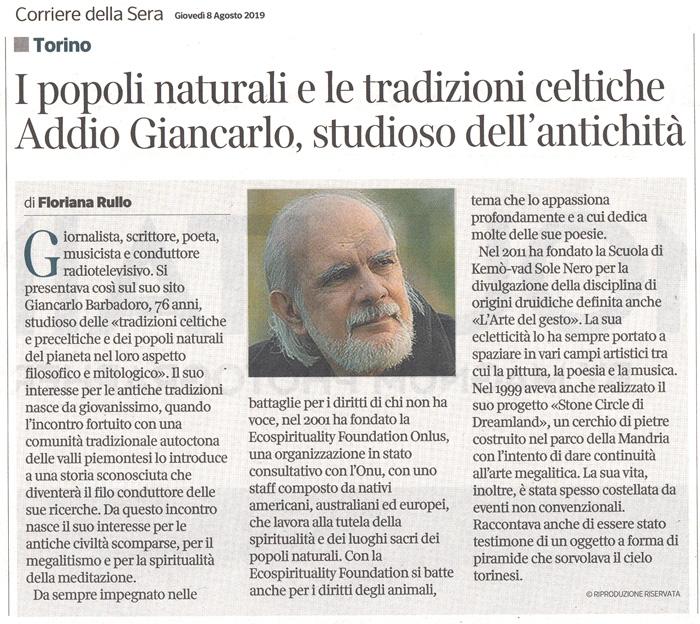 Corriere della Sera - 08-08-2019 - Giancarlo Barbadoro