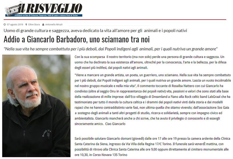 Il Risveglio - 07-08-2019 - Giancarlo Barbadoro