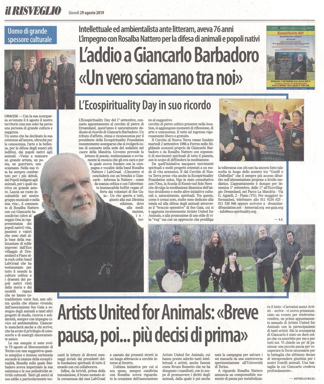 Il Risveglio - 29-08-2019 - Giancarlo Barbadoro